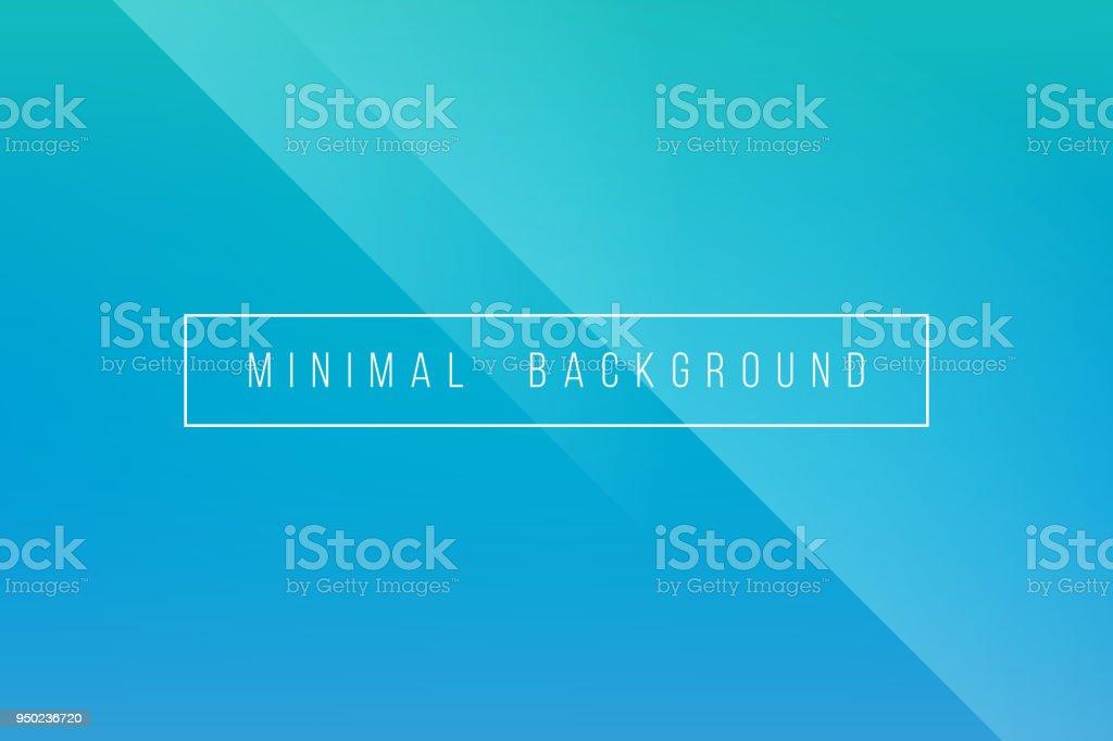 Base minimale Turquoise élégant Lineer abstraite Crease Pattern Vector Background - Illustration vectorielle