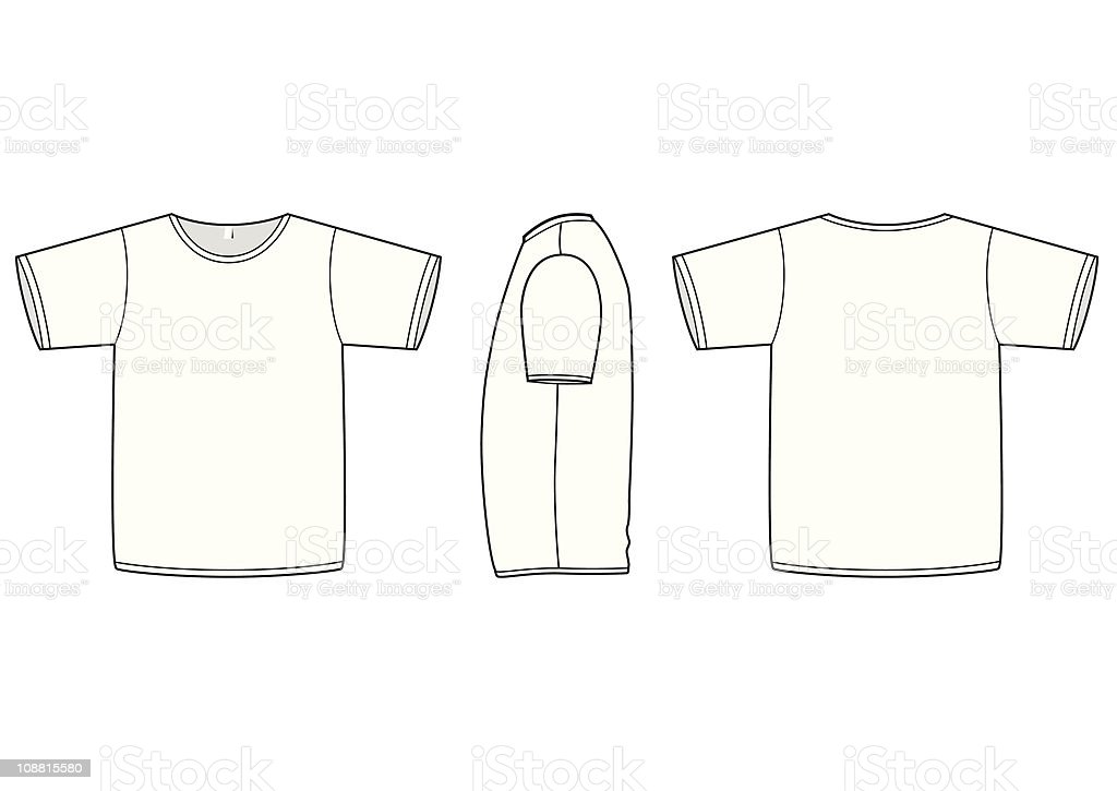basic unisex tshirt template vector illustration stock vector art more images of adult. Black Bedroom Furniture Sets. Home Design Ideas
