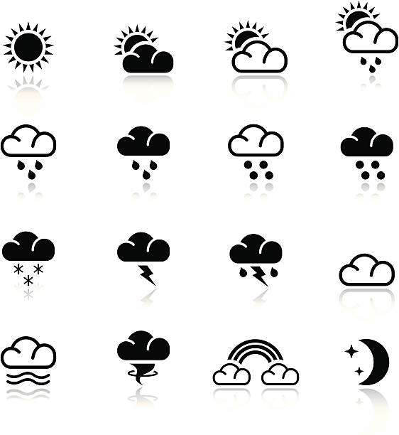Basic - Weather Vector illustration, Each icon is easy to colorize and can be used at any size. Reflections could be easily moved or deleted. Files included: Vector EPS 8,  HD JPEG 2500 x 2500 hailstorm stock illustrations