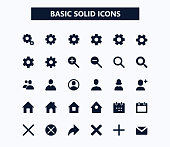 Basic web vector icons