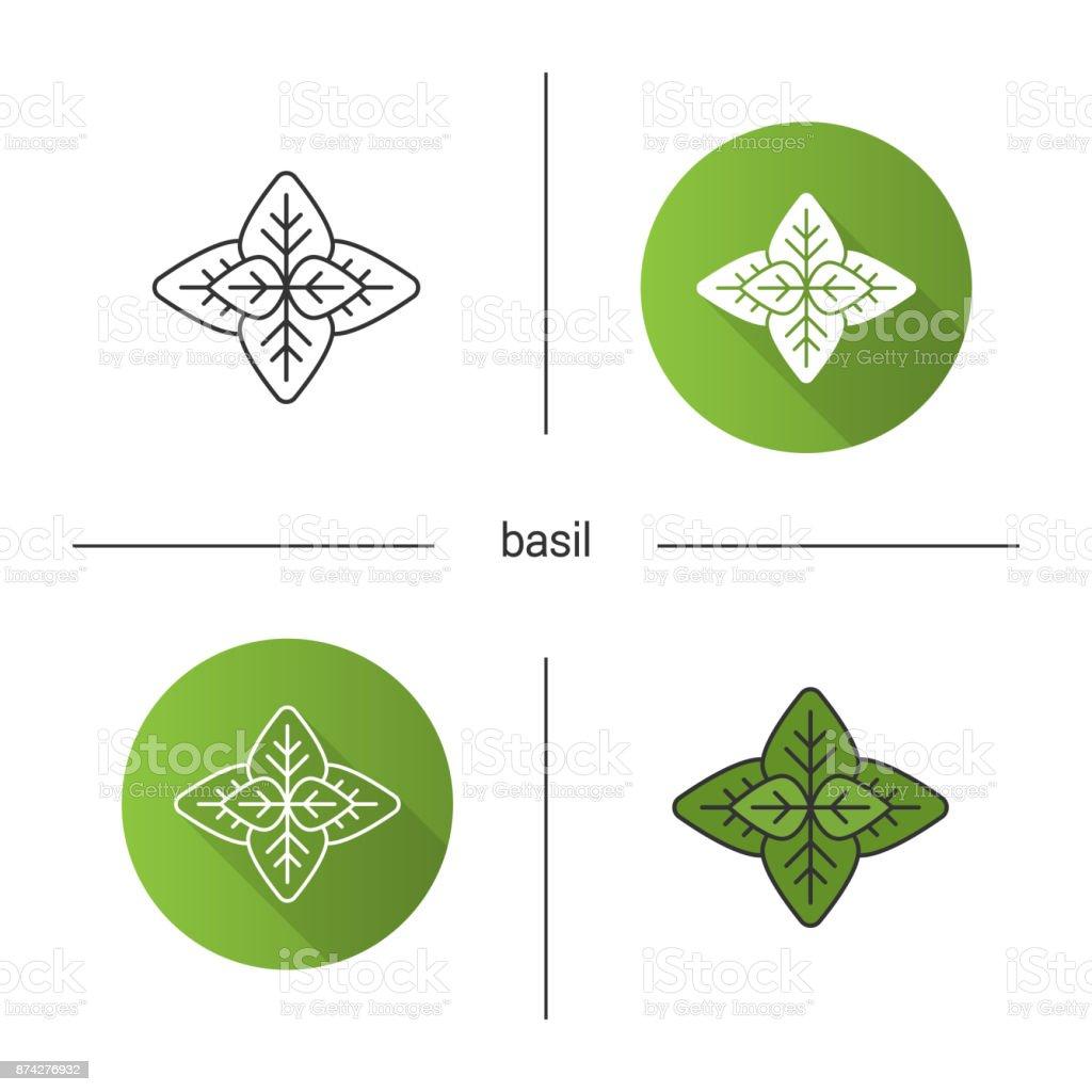 Basil icon vector art illustration