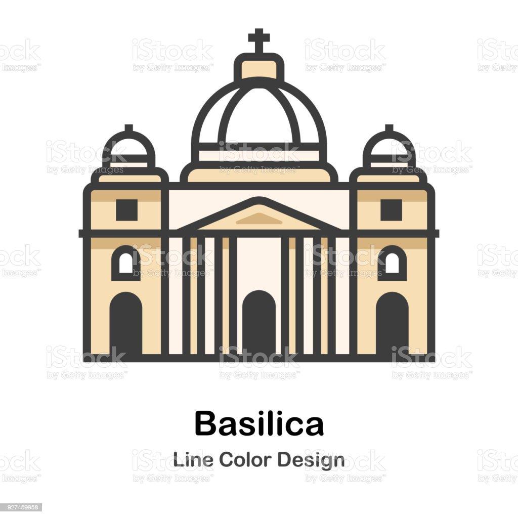 Basílica - ilustração de arte em vetor