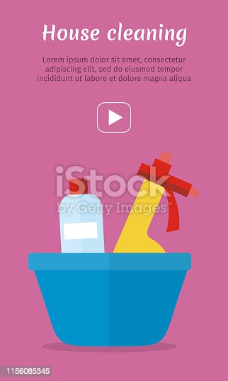 istock Basin with Washing Cleaners. Glass Clean Substance 1156085345