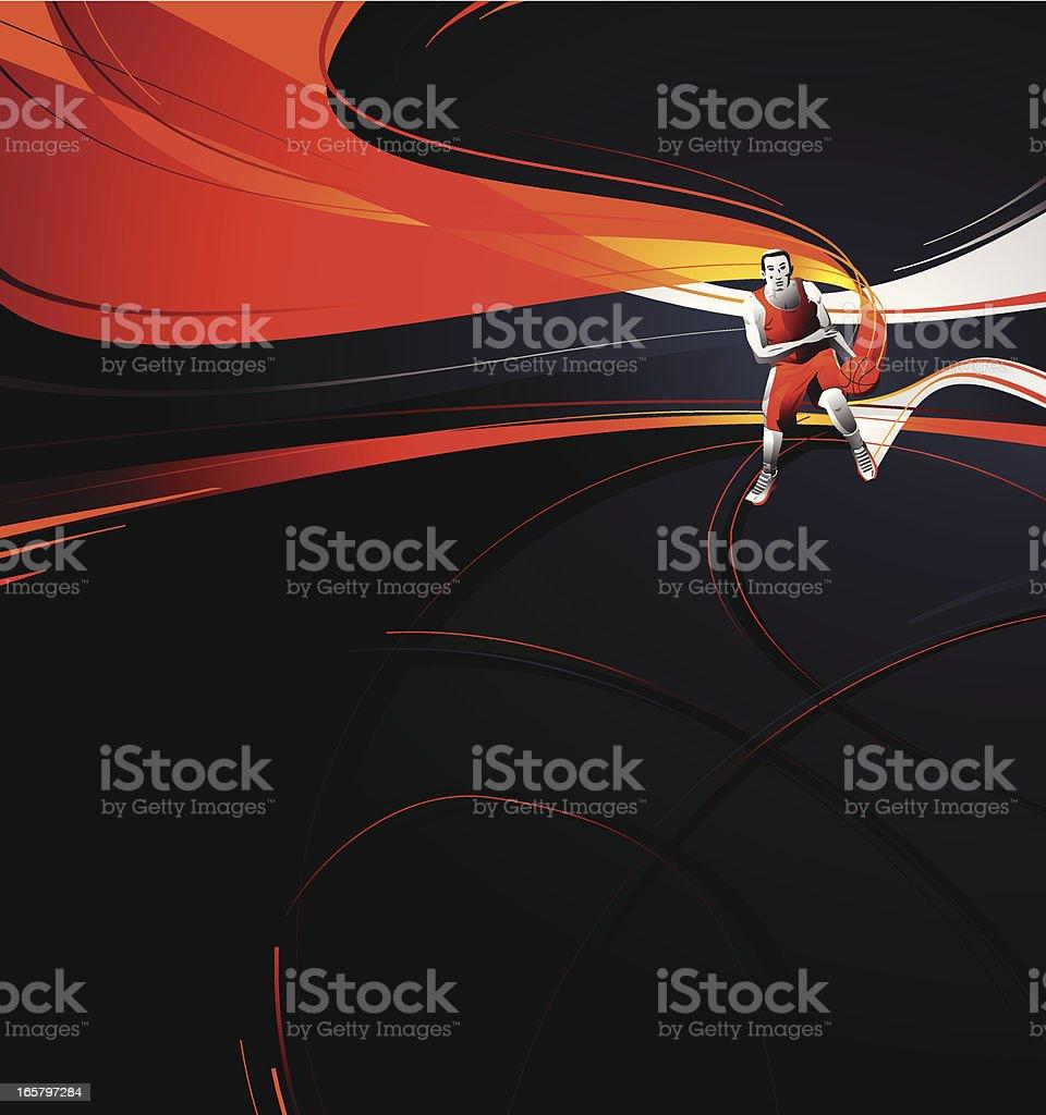 Baskeball Background. royalty-free stock vector art