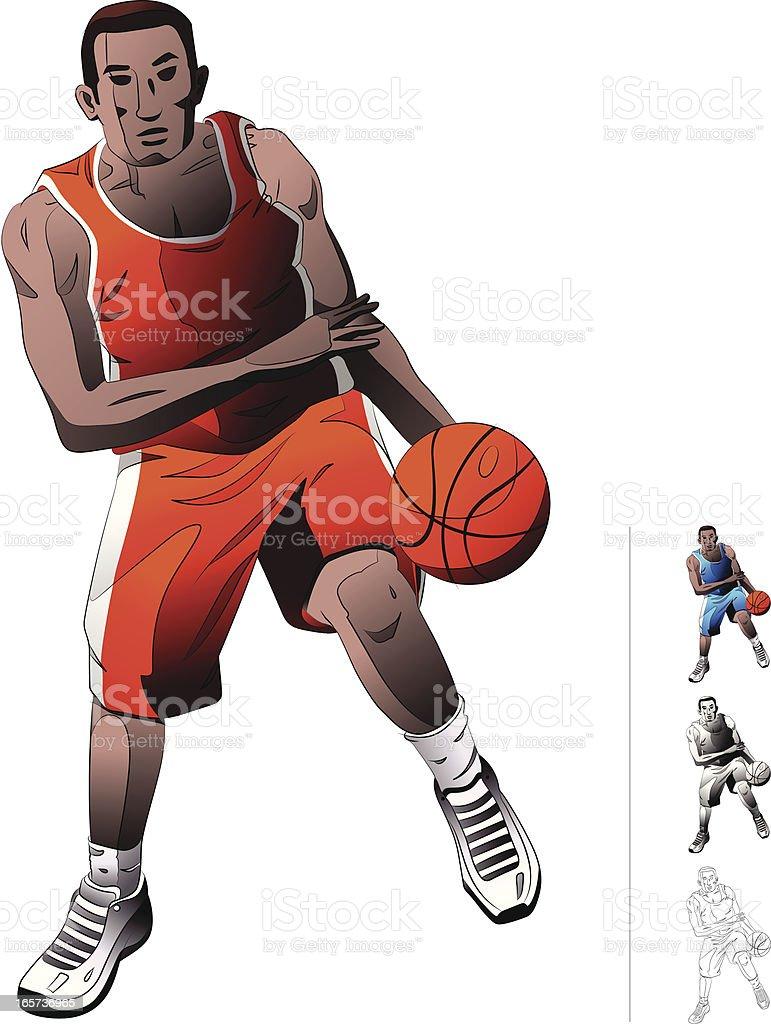 Baskeball Player vector art illustration