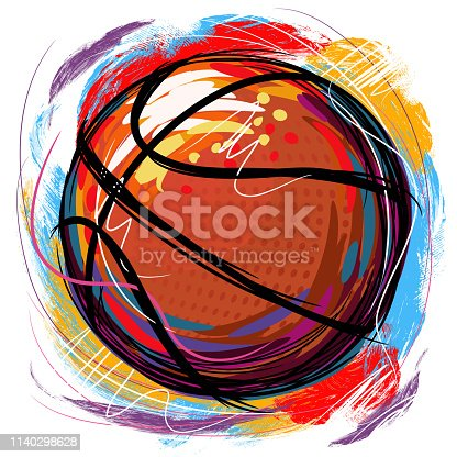 Drawing of Basket ball. Elements are grouped.contains eps10 and high resolution jpeg.