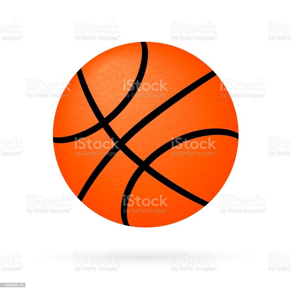 Ballon Panier Isole Sur Blanc Icone De Basketball Dessin Anime