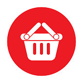 basket cart shopping icon vector