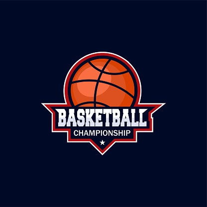 Basket championship. Vector icon template