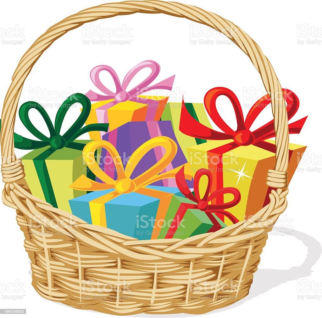 royalty free gift basket clip art vector images illustrations rh istockphoto com easter basket clipart black and white easter basket clip art black and white