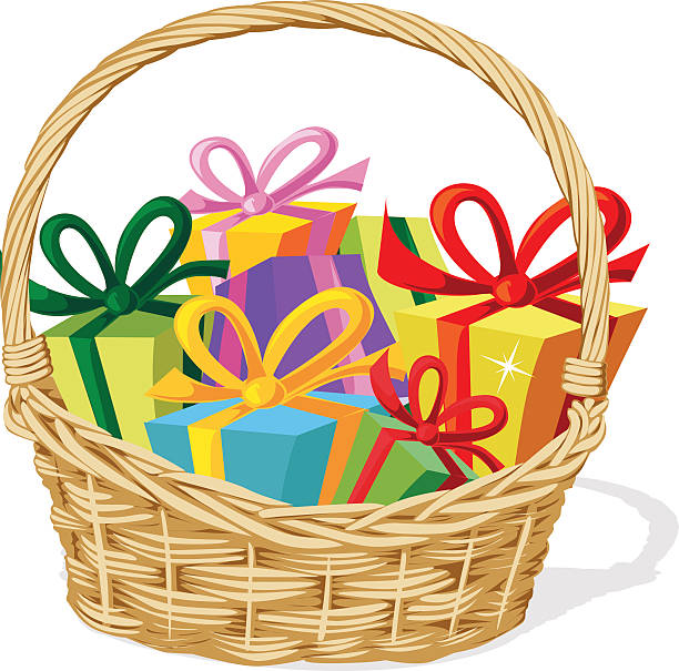 Clip Art Christmas Basket : Royalty free gift basket clip art vector images