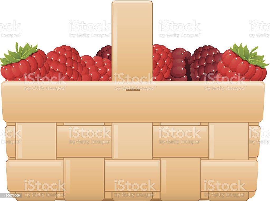 Basket of Berries royalty-free stock vector art