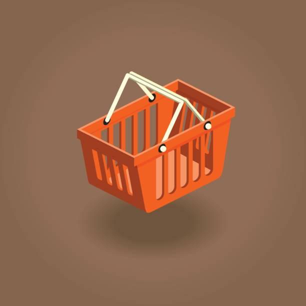 koszyk - kosz na zakupy stock illustrations