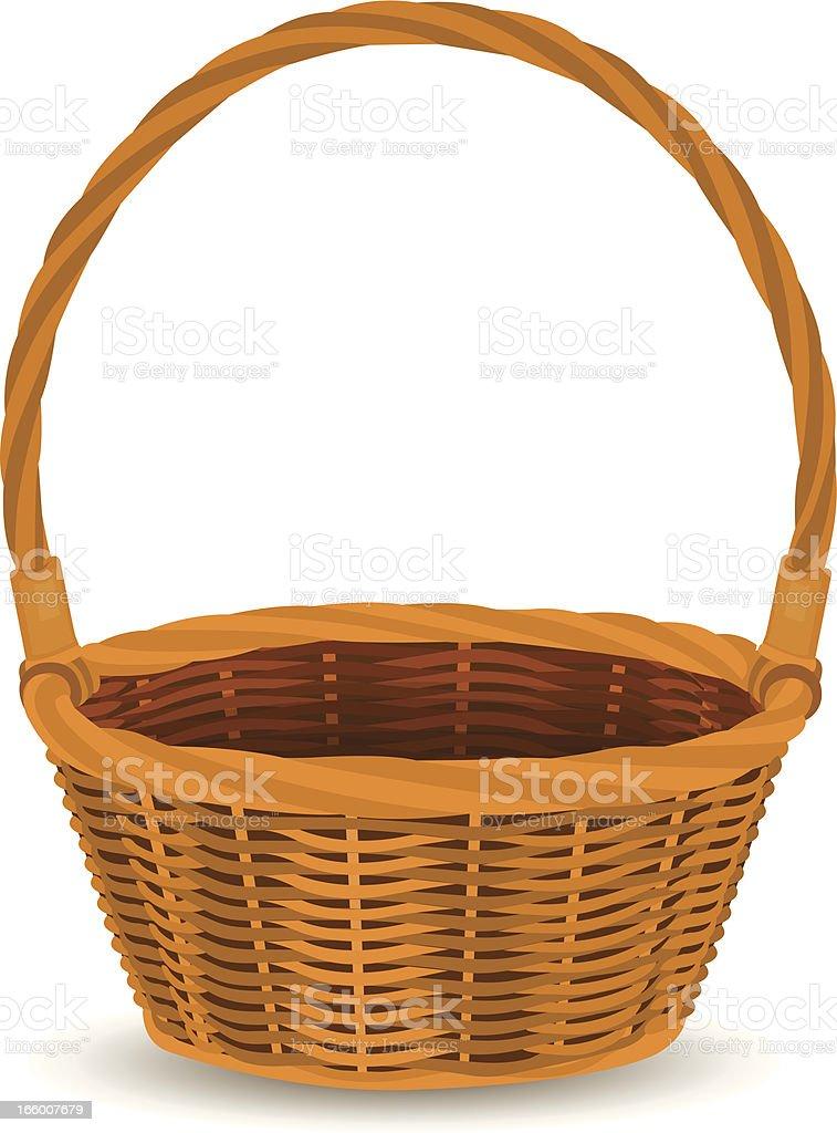 Royalty Free Easter Basket Clip Art Vector Images