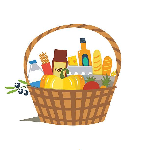 Basket vector art illustration