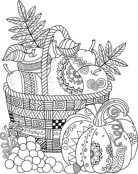 Free Printable Thanksgiving coloring pages 2019 | Happy Thanksgiving | 612x486