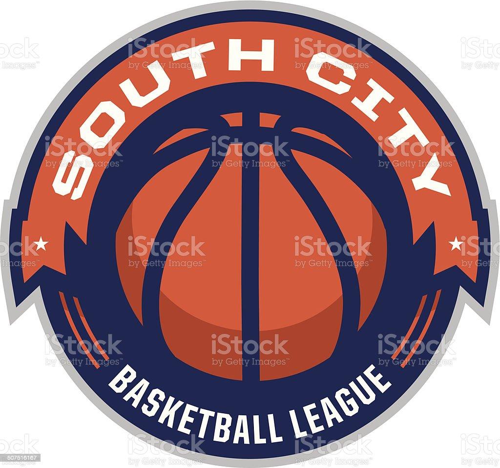 Basketbal League Logo vector art illustration