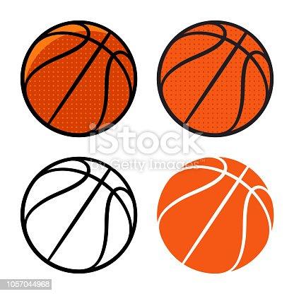 Basketball ball. Vector illustration. Basketball icon