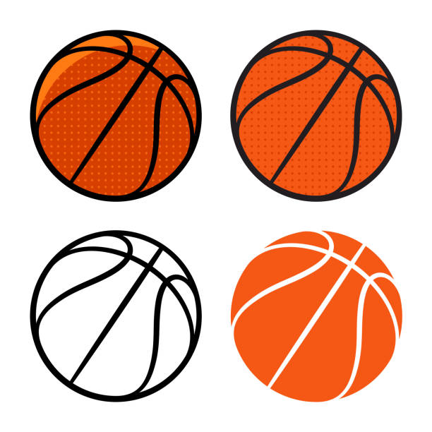 Basketball 003 Basketball ball. Vector illustration. Basketball icon basketball stock illustrations