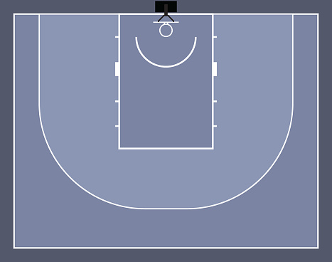 Basketball 3x3 court vector illustration