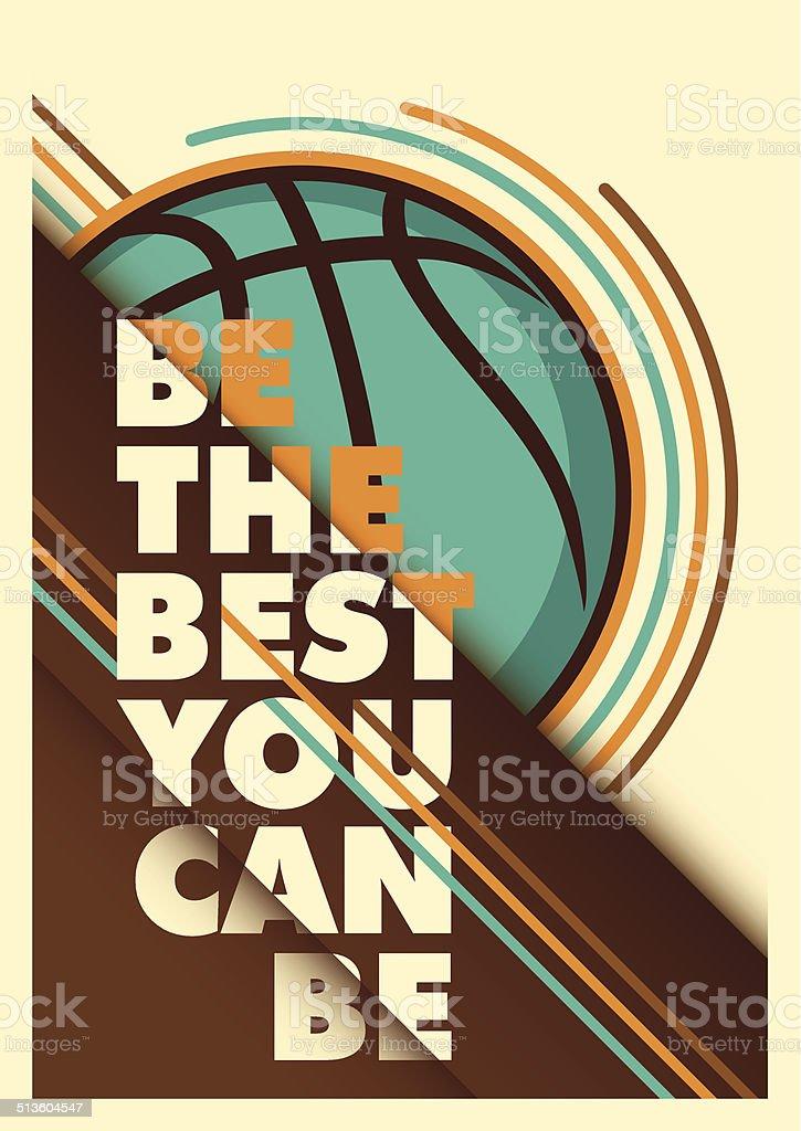 Básquetbol diseño de cartel de publicidad. - ilustración de arte vectorial