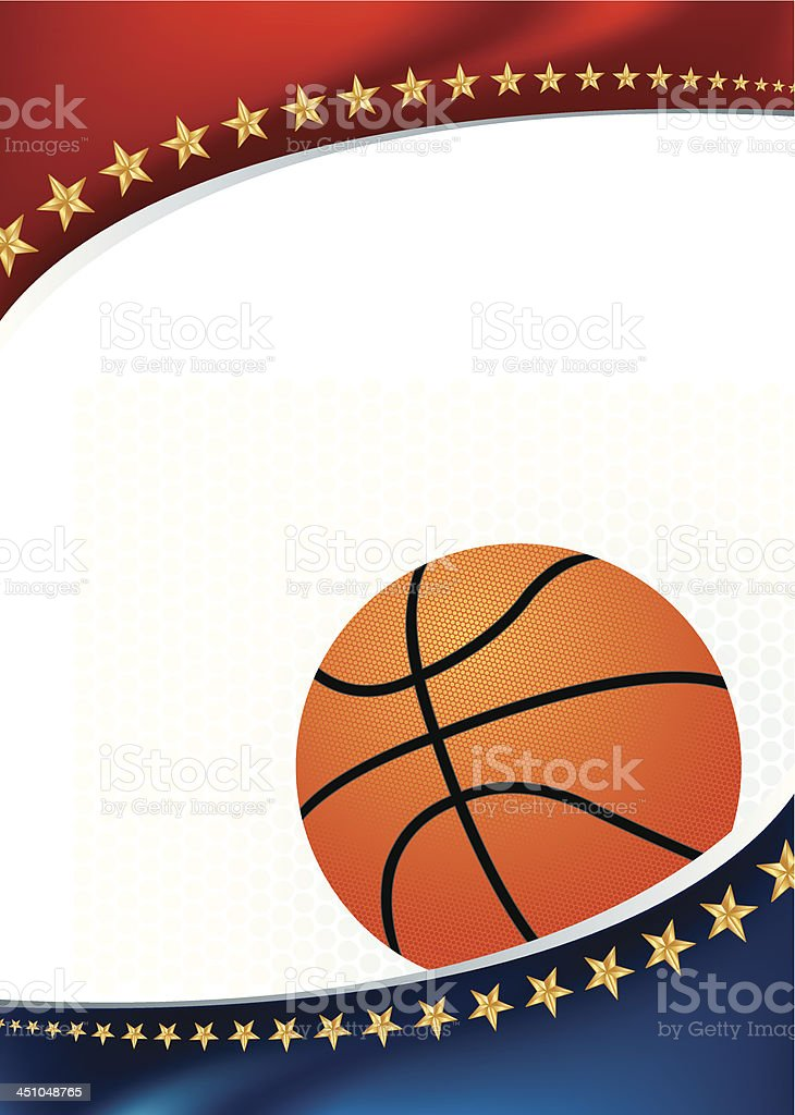 Basketball All-Star Background vector art illustration