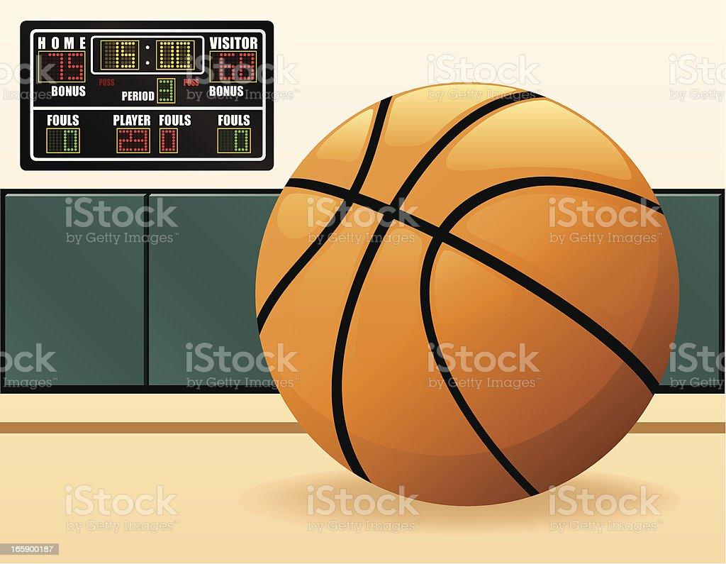 Basketball and Scoreboard vector art illustration