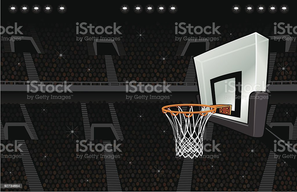 Basketball Arena Background vector art illustration