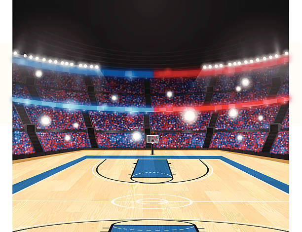 Basketball Arena vector art illustration