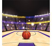 Highly-detailed basketball arena. EPS 10 file. Transparency used on highlight elements.