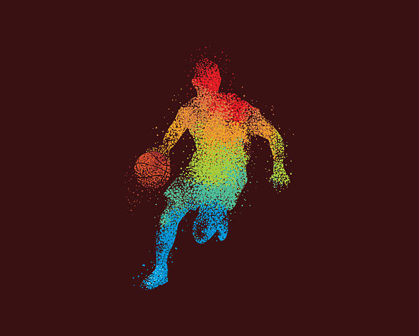 Basketball Art Dribble Illustration vector art illustration
