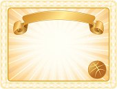 Basketball Award Certificate Background