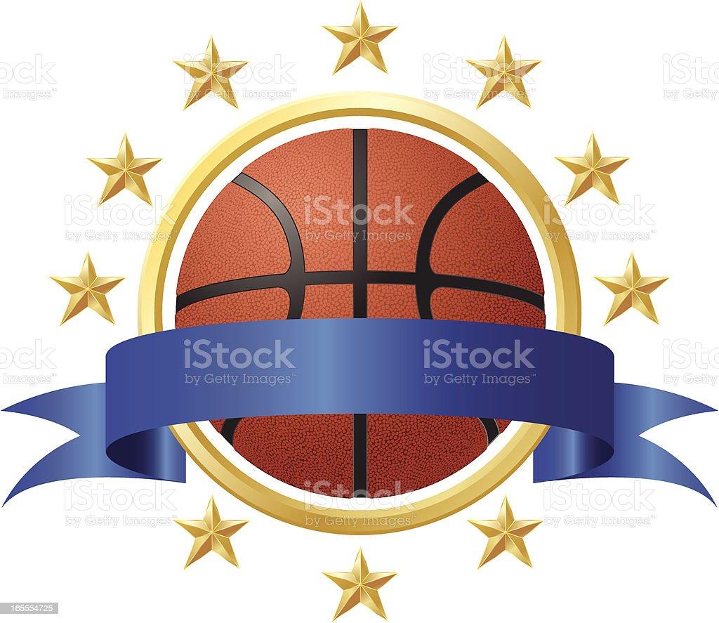 Basketball Award vector art illustration