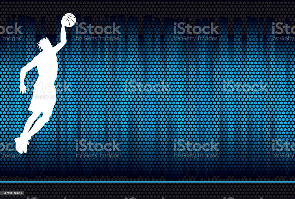 Basketball Background - Male Athlete vector art illustration