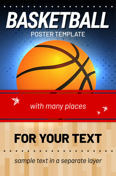 Basketball background - template for your sport design vector art illustration