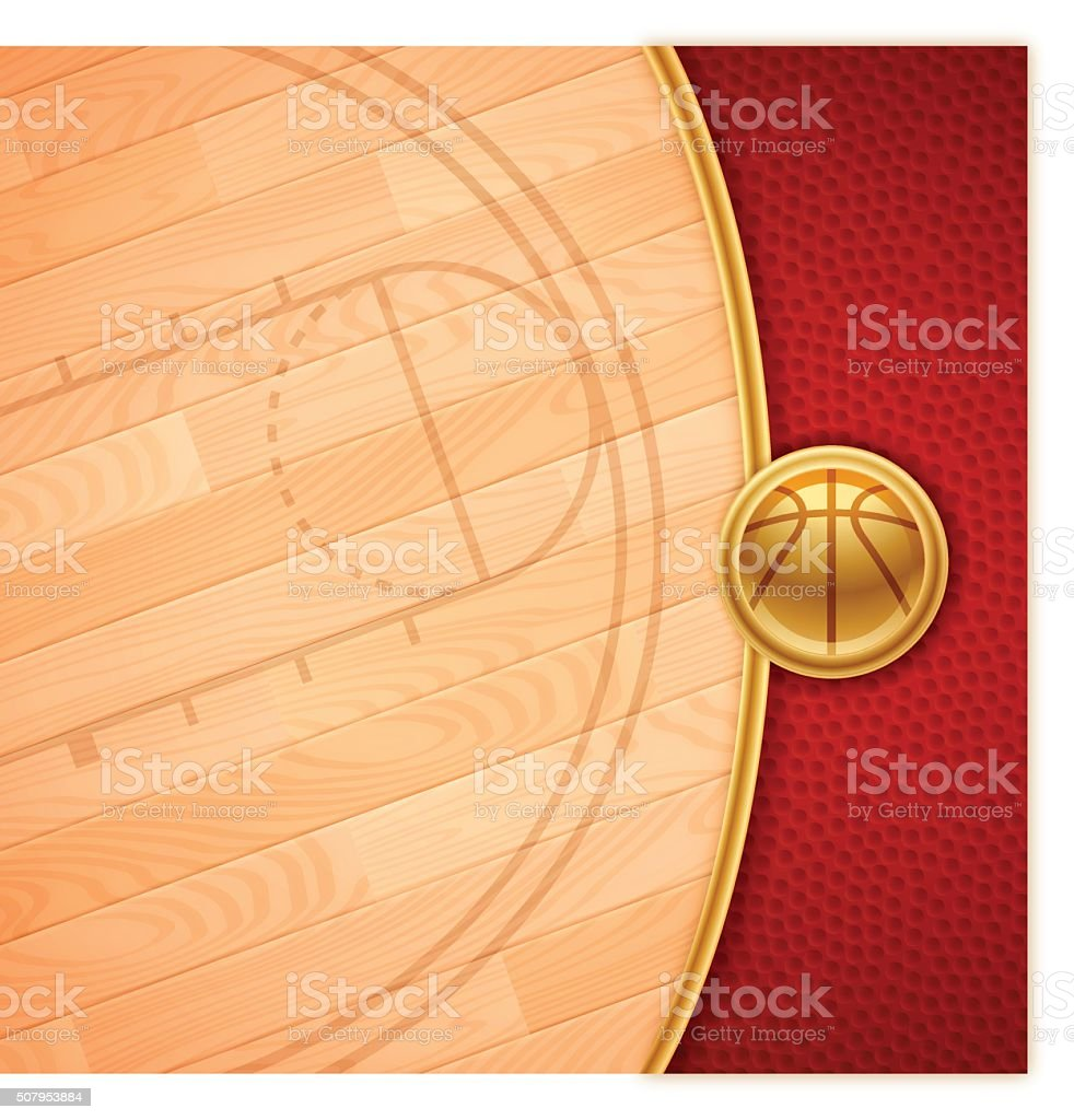 Basketball Background vector art illustration