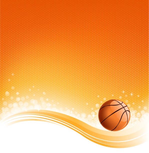 basketball backround vector art illustration