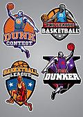 basketball badge design collection
