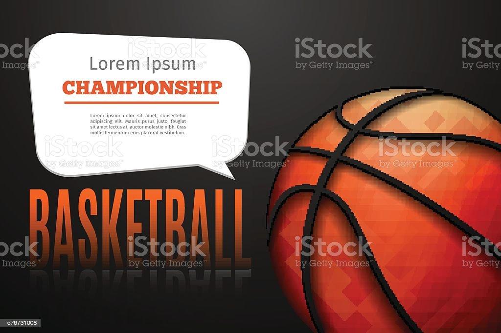 Basketball ball background - ilustración de arte vectorial