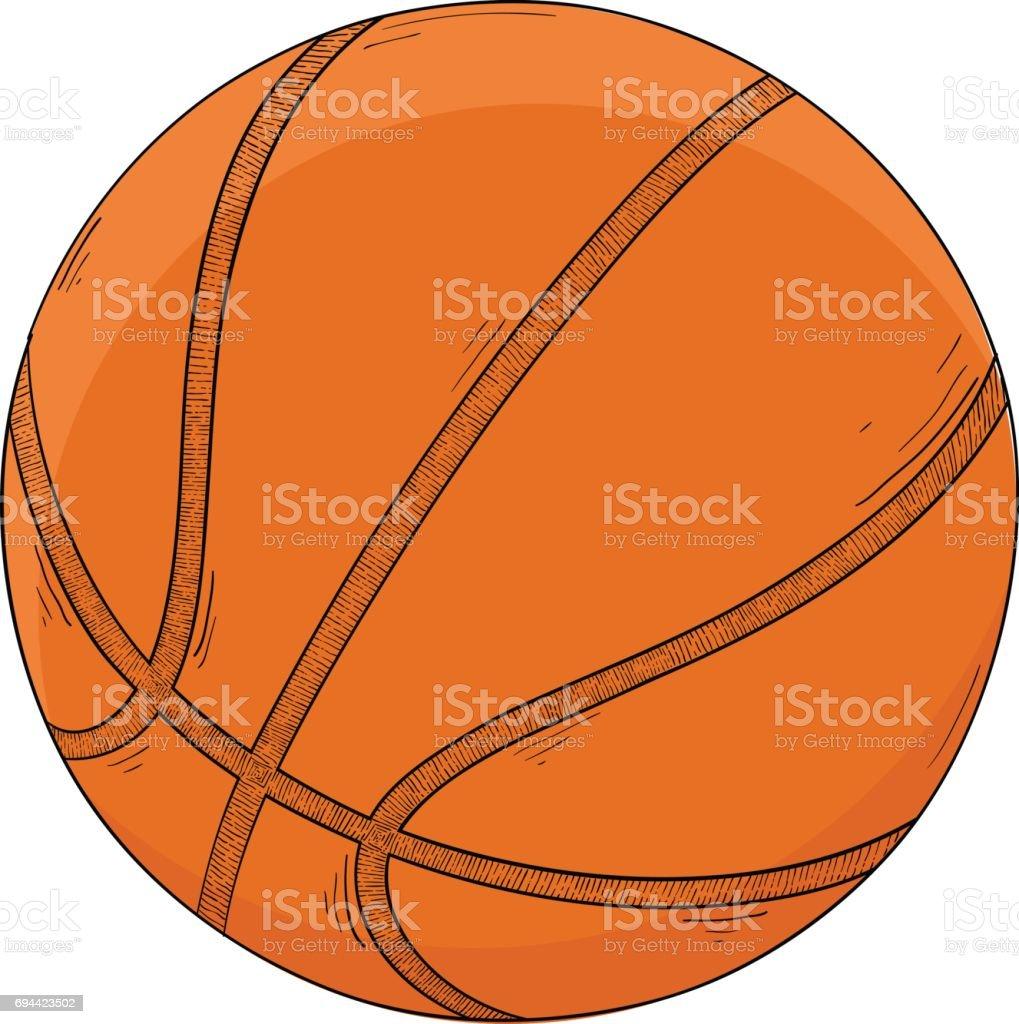 ilustração de bola de basquete desenho colorido e mais banco de