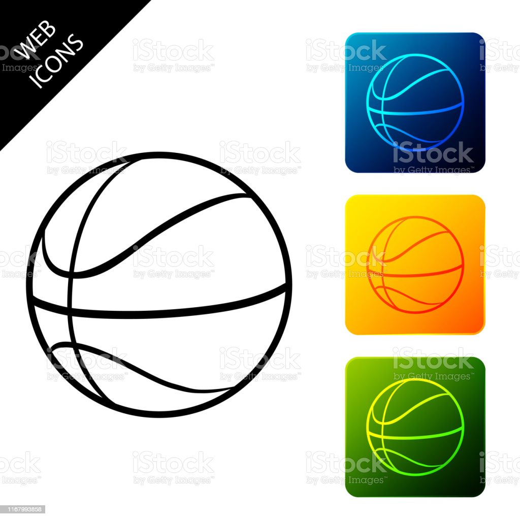 Basketball ball icon isolated. Sport symbol. Set icons colorful...