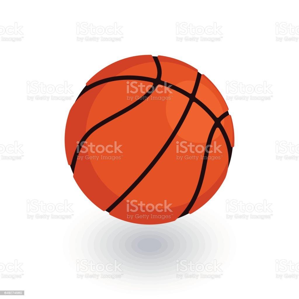 Icono de plano isométrico bola baloncesto. vector 3D - ilustración de arte vectorial