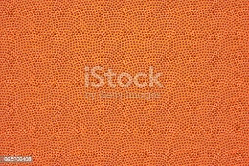 istock Basketball ball leather pattern 665206408