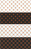 Basketball Ball Seamless Pattern Color Set