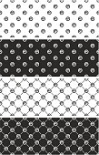 Basketball Ball Seamless Pattern Set