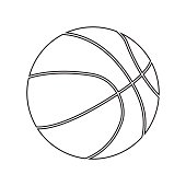 Basketball ball silhouette. For your business project. Vector Illustration