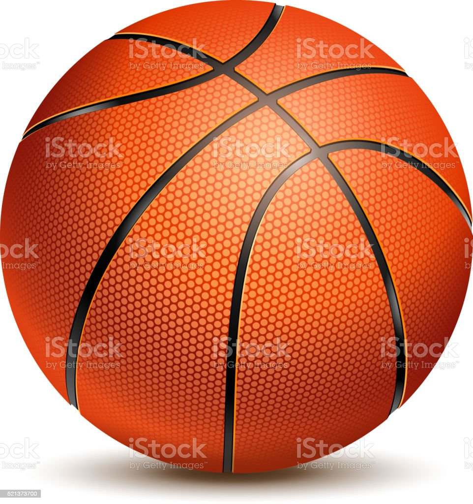 Ballon de basket-Ball - Illustration vectorielle