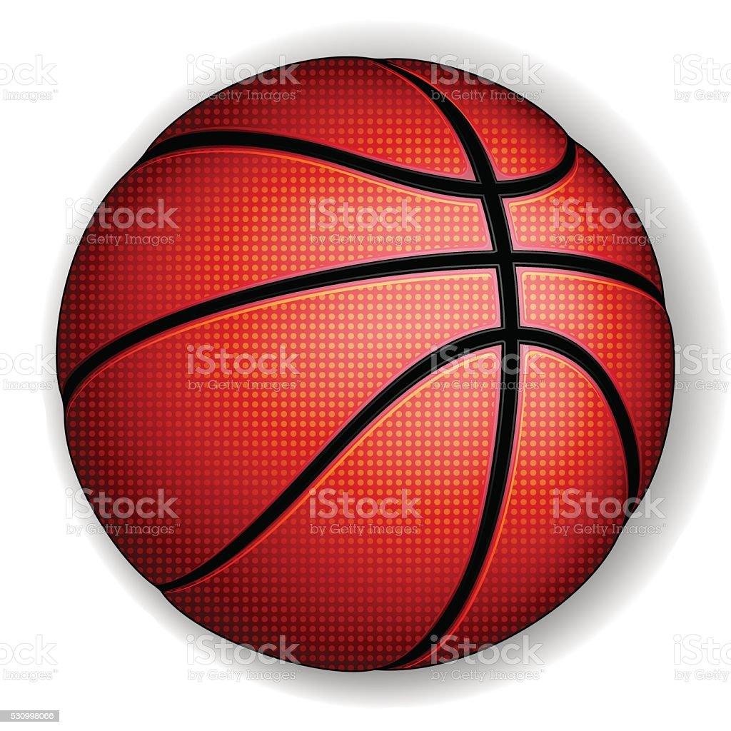 Basketball ball, vector vector art illustration