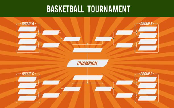 stockillustraties, clipart, cartoons en iconen met basketbal banner. basket toernooi. basketbal wedstrijd of basketbaltoernooi. - kampioenschap