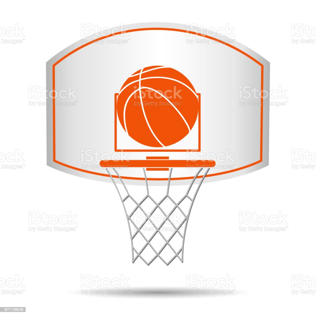 Basketball basket, hoop, ball royalty-free basketball basket hoop ball stock illustration - download image now